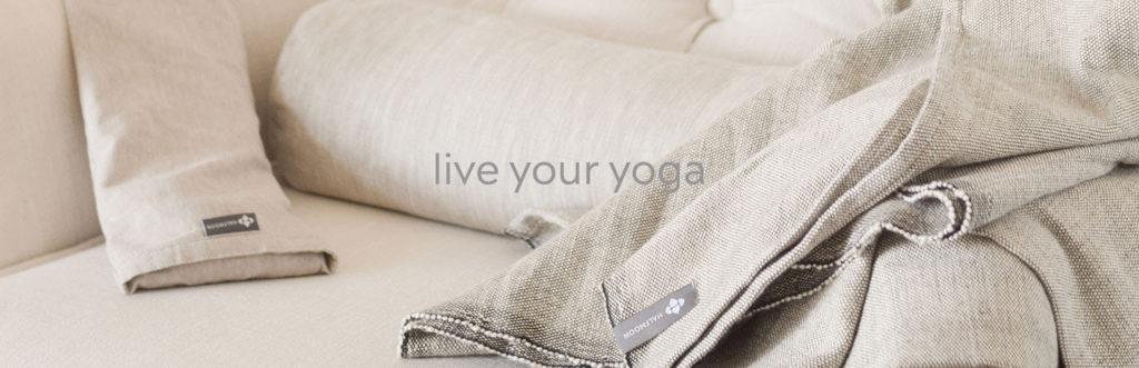 Halfmoon yoga and meditation props
